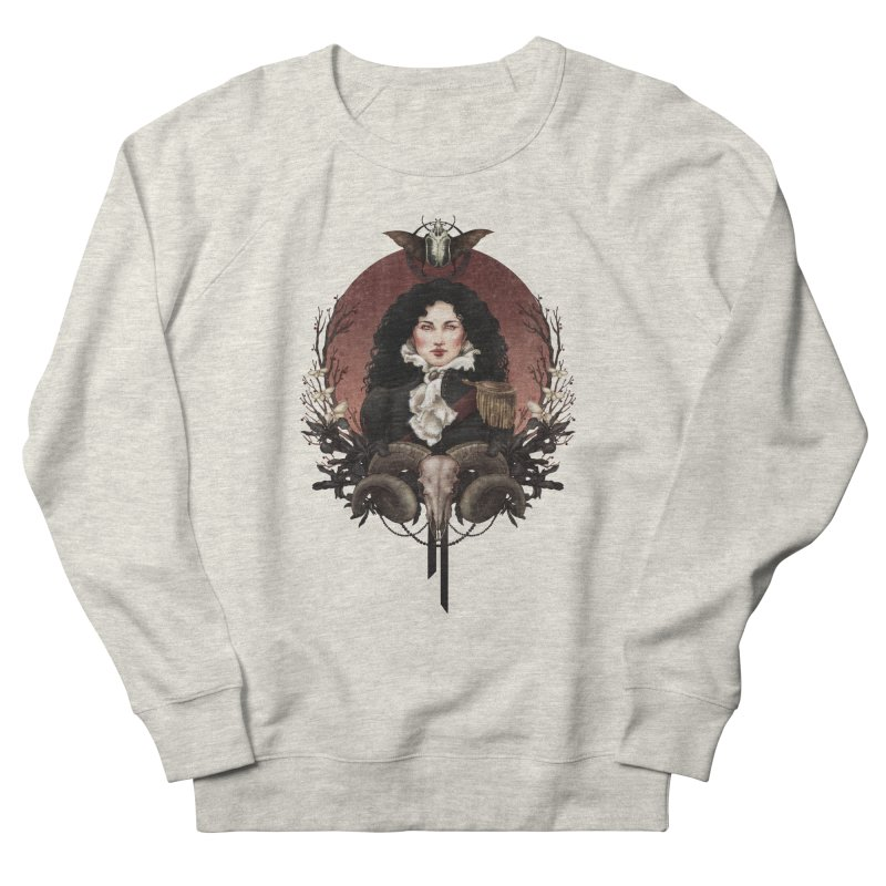 Imperatrice Women's French Terry Sweatshirt by Mar del Valle's Artist Shop