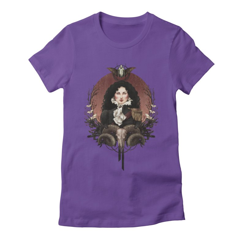 Imperatrice Women's Fitted T-Shirt by Mar del Valle's Artist Shop