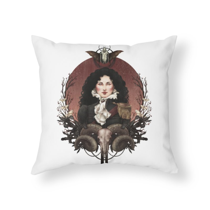 Imperatrice Home Throw Pillow by Mar del Valle's Artist Shop