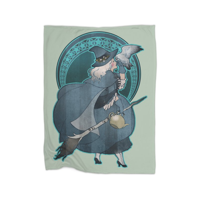 The White Witch Home Fleece Blanket Blanket by Mar del Valle's Artist Shop