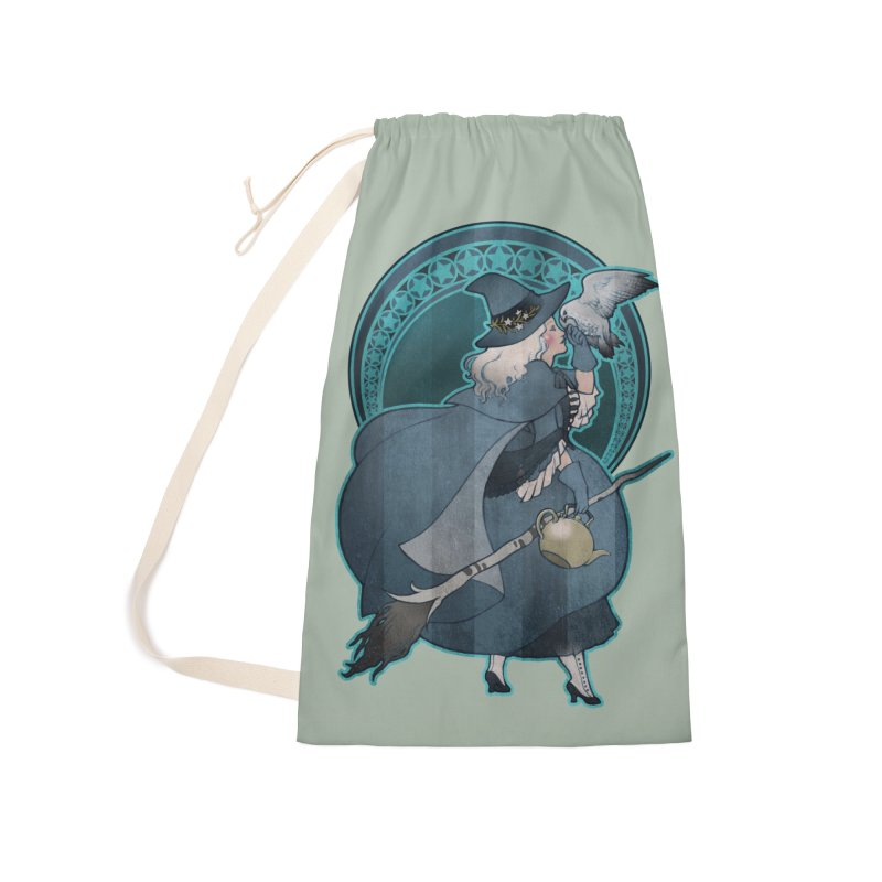 The White Witch Accessories Laundry Bag Bag by Mar del Valle's Artist Shop