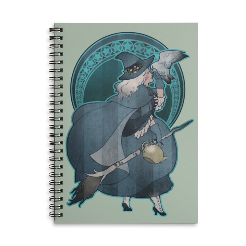 The White Witch Accessories Lined Spiral Notebook by Mar del Valle's Artist Shop