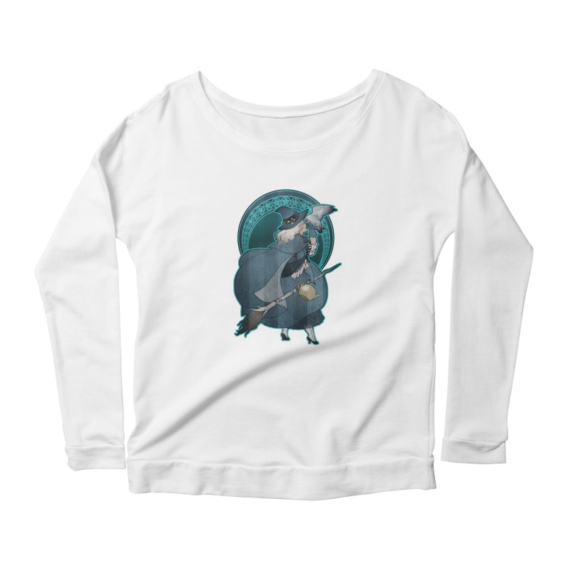 The White Witch Women's Longsleeve Scoopneck  by Mar del Valle's Artist Shop