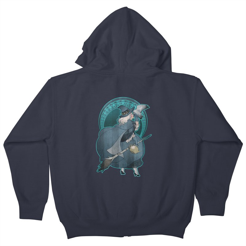 The White Witch Kids Zip-Up Hoody by Mar del Valle's Artist Shop