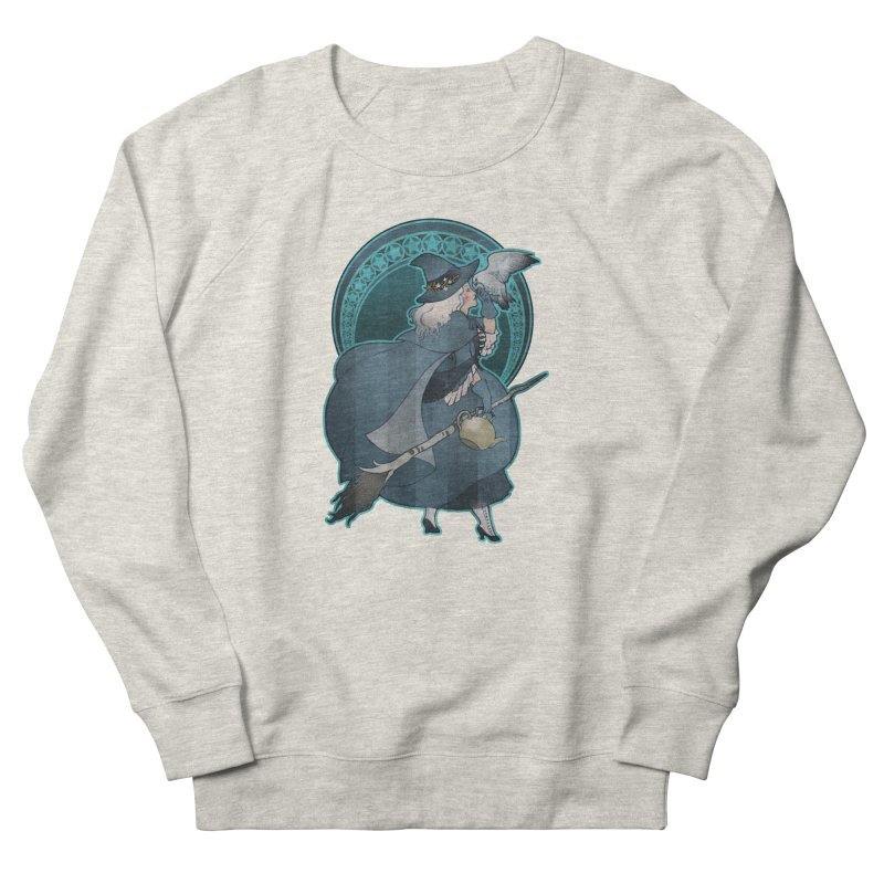 The White Witch Women's French Terry Sweatshirt by Mar del Valle's Artist Shop