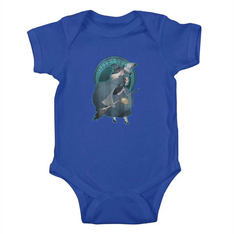 The White Witch Kids Baby Bodysuit by Mar del Valle's Artist Shop