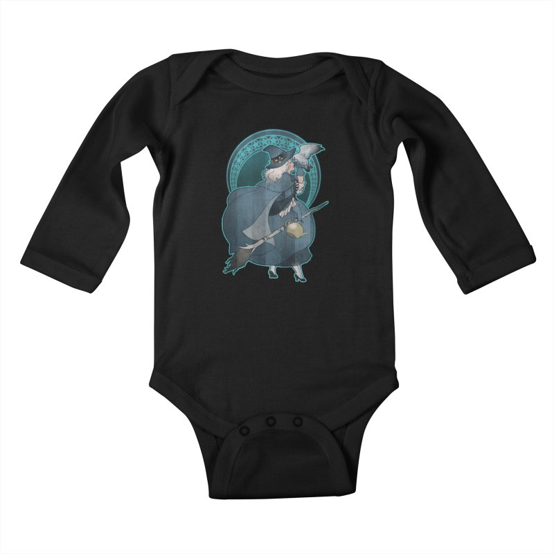 The White Witch Kids Baby Longsleeve Bodysuit by Mar del Valle's Artist Shop