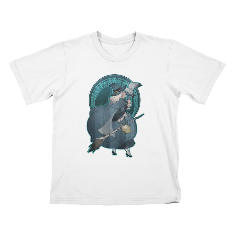 The White Witch Kids T-Shirt by Mar del Valle's Artist Shop