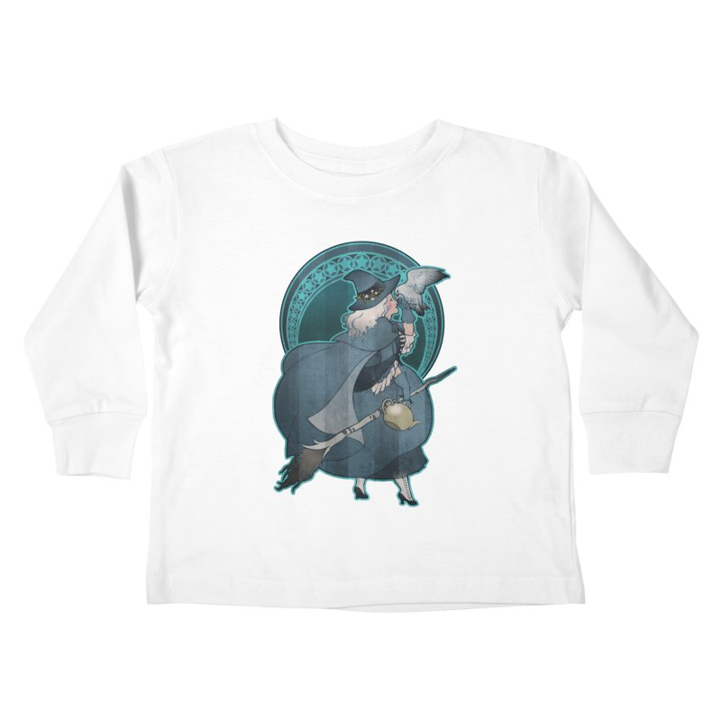 The White Witch Kids Toddler Longsleeve T-Shirt by Mar del Valle's Artist Shop