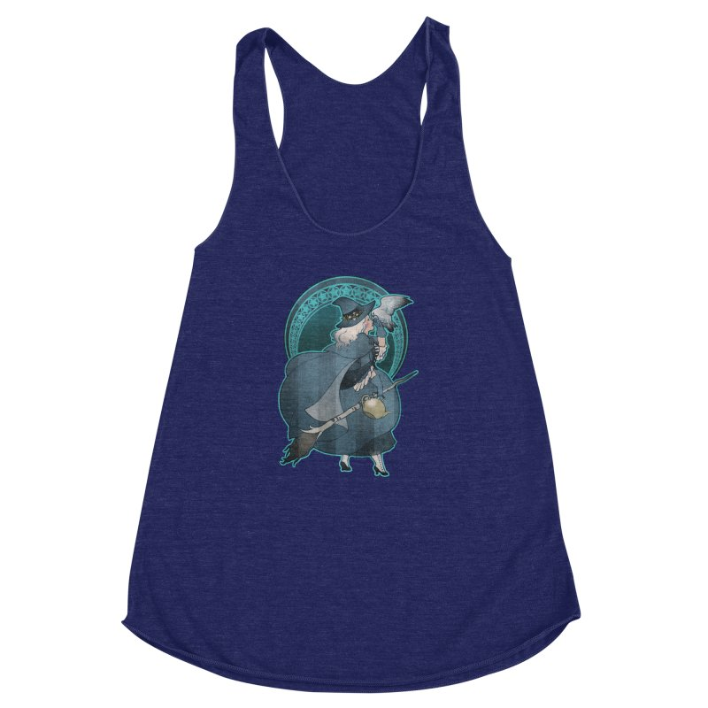 The White Witch Women's Racerback Triblend Tank by Mar del Valle's Artist Shop