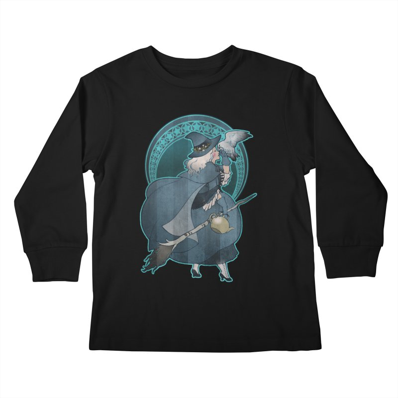 The White Witch Kids Longsleeve T-Shirt by Mar del Valle's Artist Shop