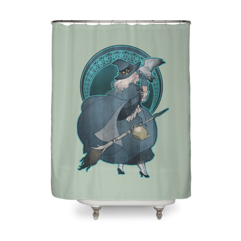 The White Witch Home Shower Curtain by Mar del Valle's Artist Shop