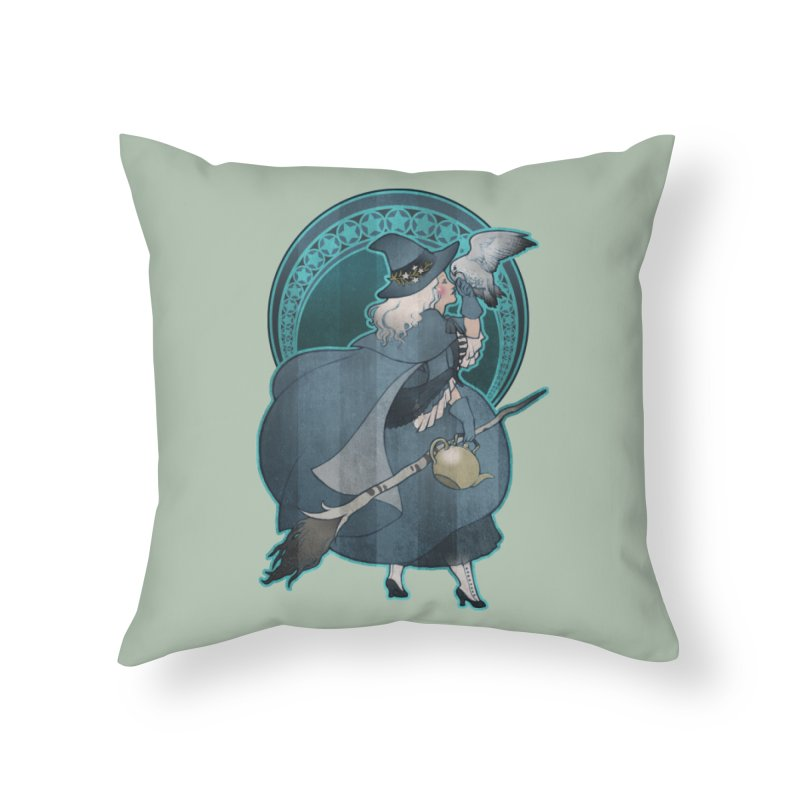 The White Witch Home Throw Pillow by Mar del Valle's Artist Shop