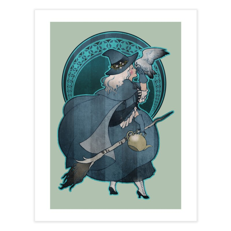 The White Witch Home Fine Art Print by Mar del Valle's Artist Shop