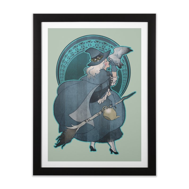 The White Witch Home Framed Fine Art Print by Mar del Valle's Artist Shop