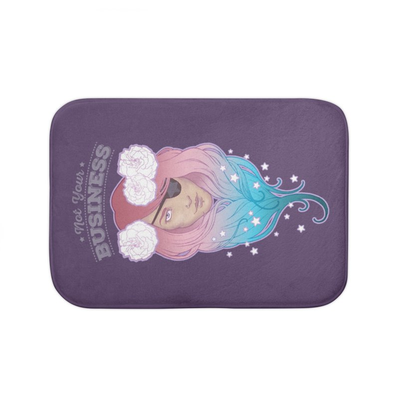 Not Your Business Home Bath Mat by Mar del Valle's Artist Shop