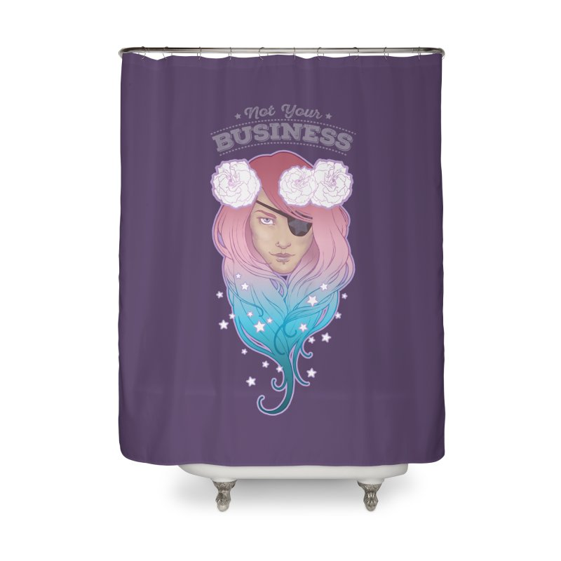 Not Your Business Home Shower Curtain by Mar del Valle's Artist Shop
