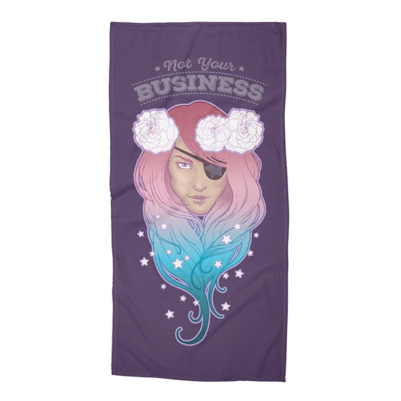Not Your Business Accessories Beach Towel by Mar del Valle's Artist Shop