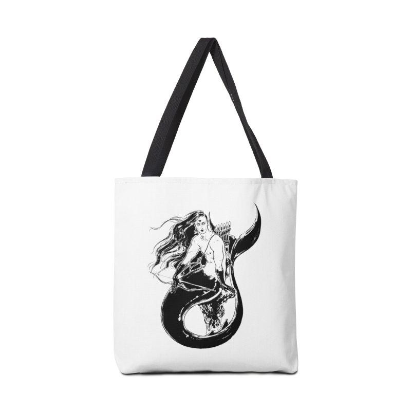 Black Mermaid Accessories Bag by Mar del Valle's Artist Shop