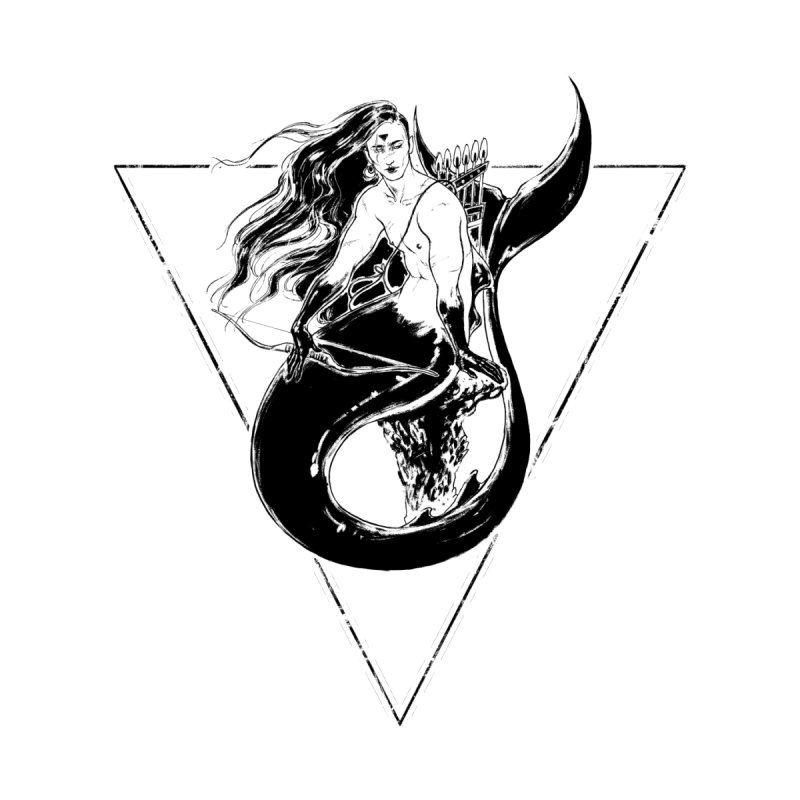 Black Mermaid Women's Unisex T-Shirt by Mar del Valle's Artist Shop