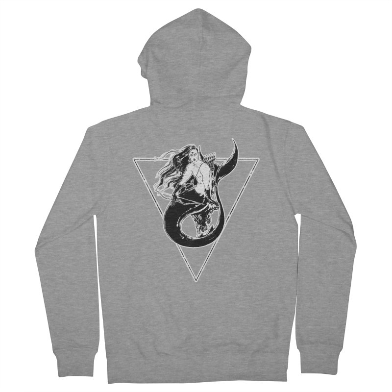 Black Mermaid Men's Zip-Up Hoody by Mar del Valle's Artist Shop