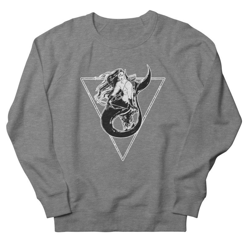 Black Mermaid Women's French Terry Sweatshirt by Mar del Valle's Artist Shop