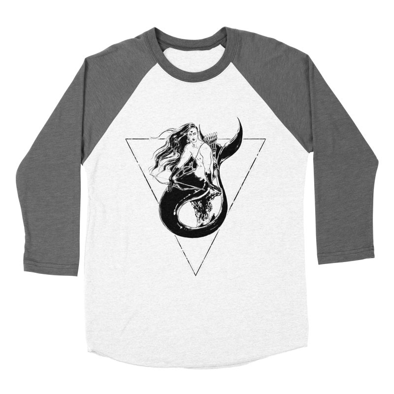 Black Mermaid Women's Longsleeve T-Shirt by Mar del Valle's Artist Shop