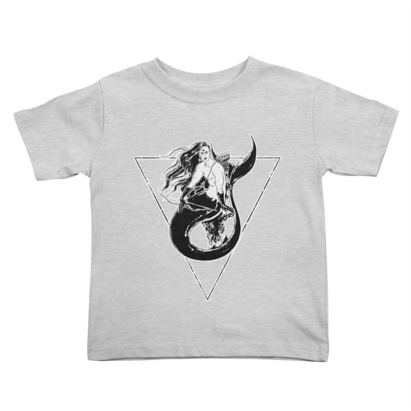 Black Mermaid Kids Toddler T-Shirt by Mar del Valle's Artist Shop
