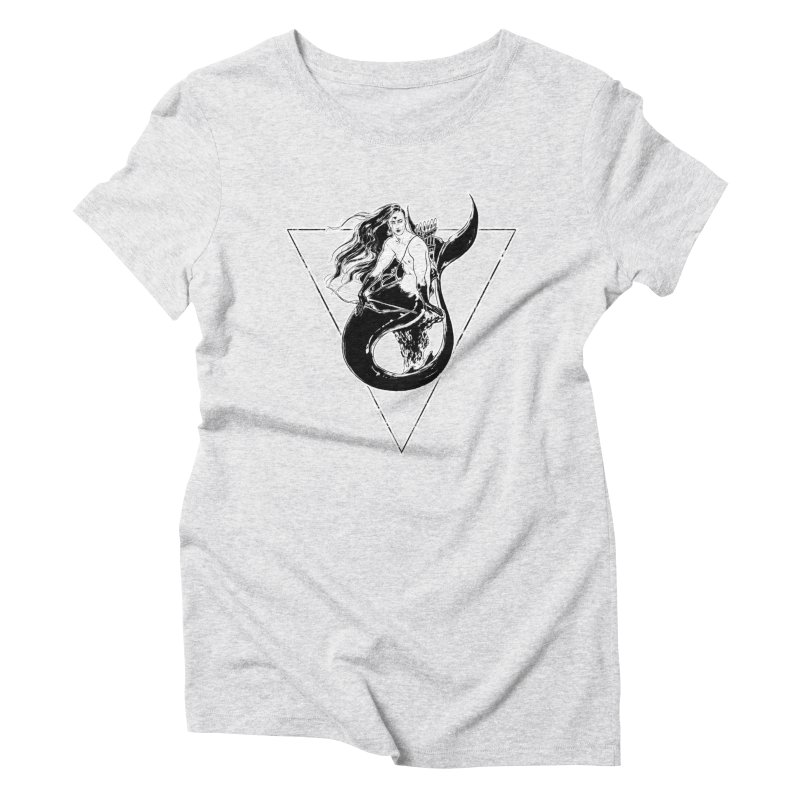 Black Mermaid Women's Triblend T-Shirt by Mar del Valle's Artist Shop