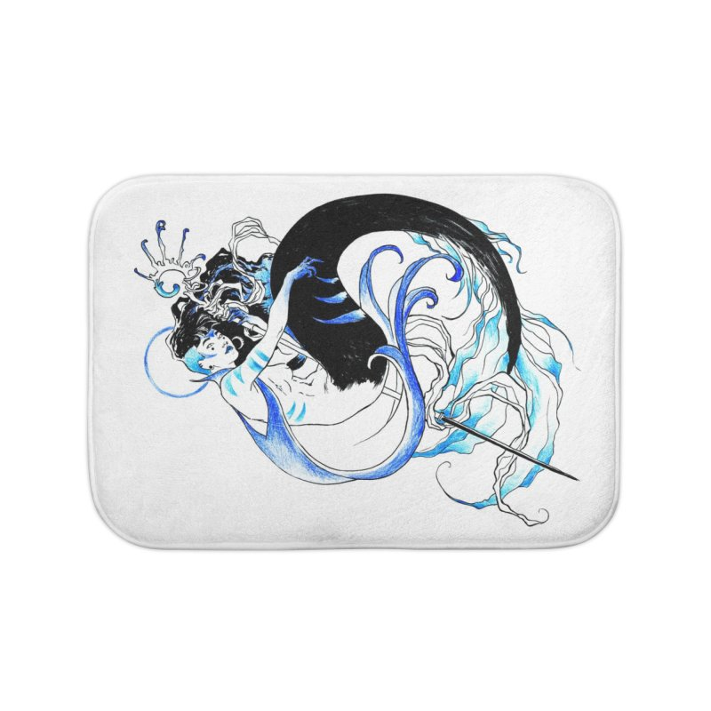 Blue Mermaid Home Bath Mat by Mar del Valle's Artist Shop