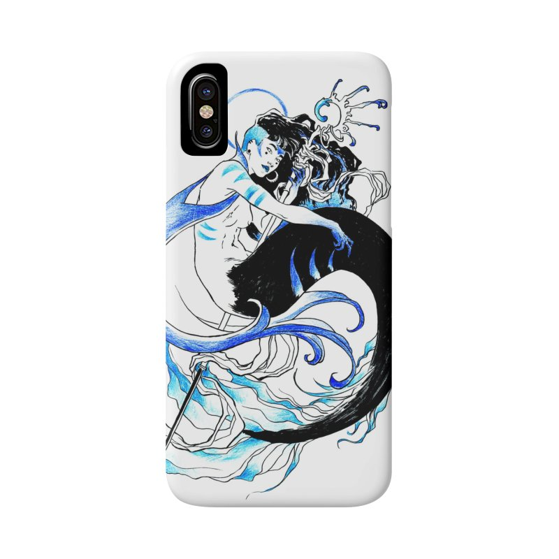Blue Mermaid Accessories Phone Case by Mar del Valle's Artist Shop