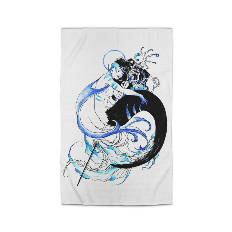 Blue Mermaid Home Rug by Mar del Valle's Artist Shop