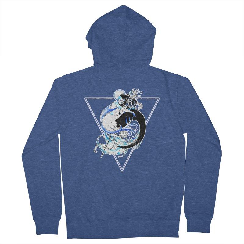 Blue Mermaid Women's Zip-Up Hoody by Mar del Valle's Artist Shop