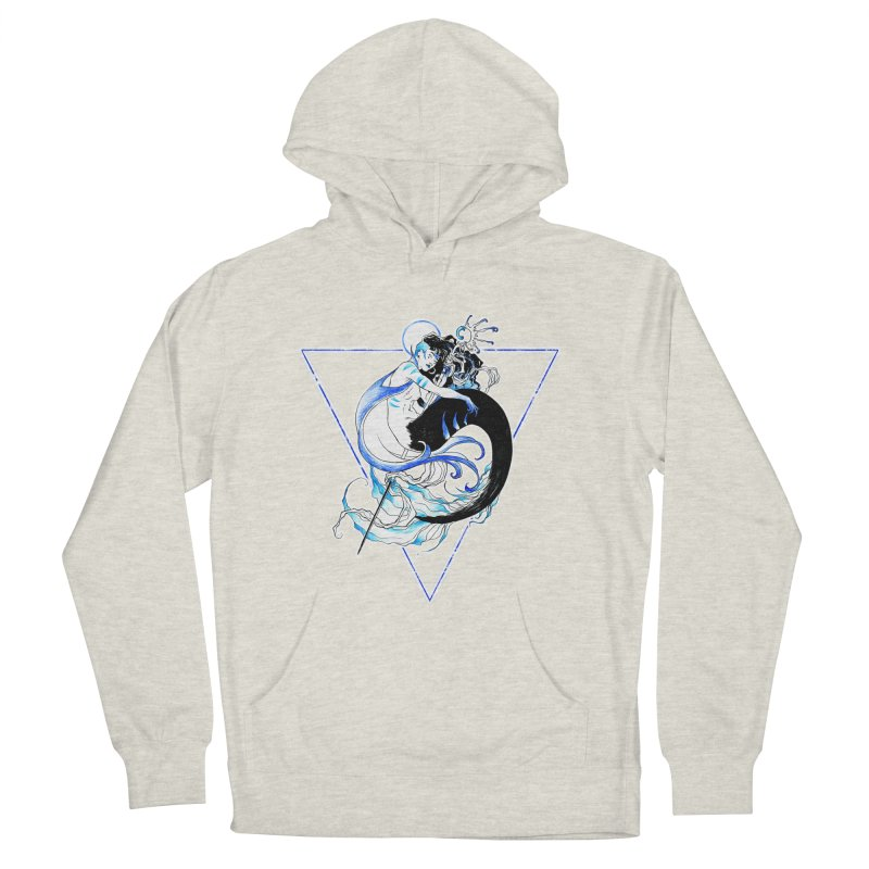 Blue Mermaid Men's French Terry Pullover Hoody by Mar del Valle's Artist Shop