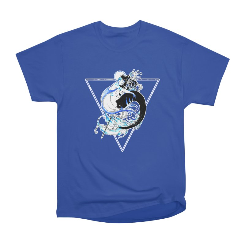Blue Mermaid Men's Heavyweight T-Shirt by Mar del Valle's Artist Shop