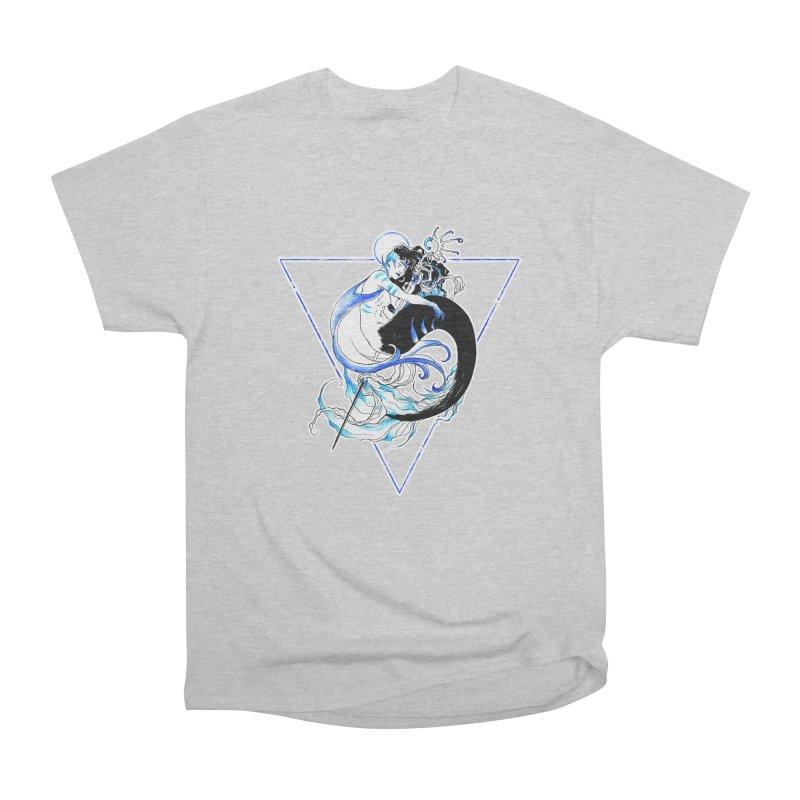 Blue Mermaid Men's Classic T-Shirt by Mar del Valle's Artist Shop