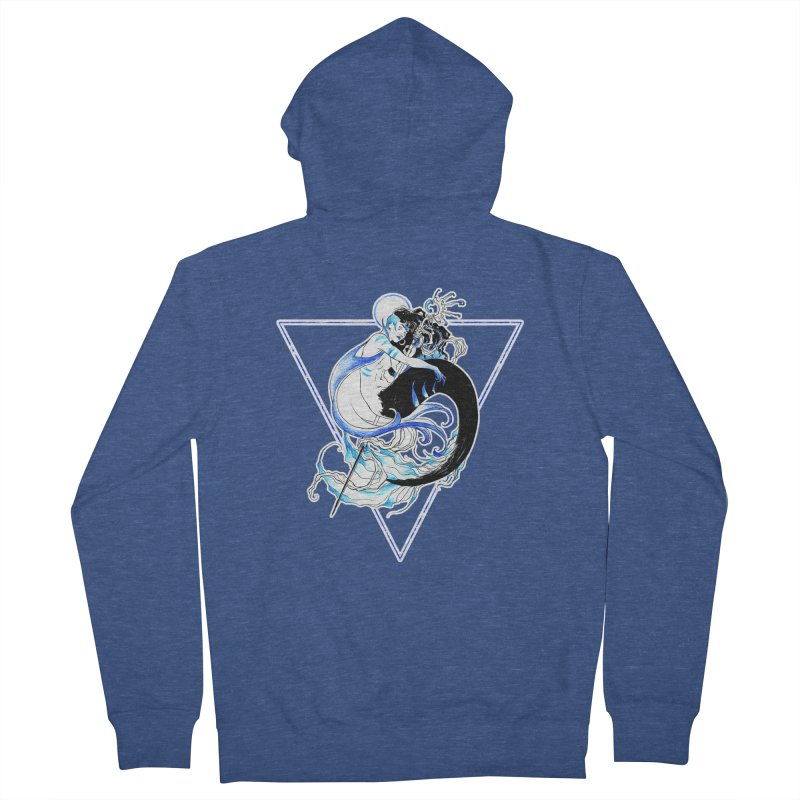 Blue Mermaid Women's Zip-Up Hoody by Mar del Valle's Artist Shop