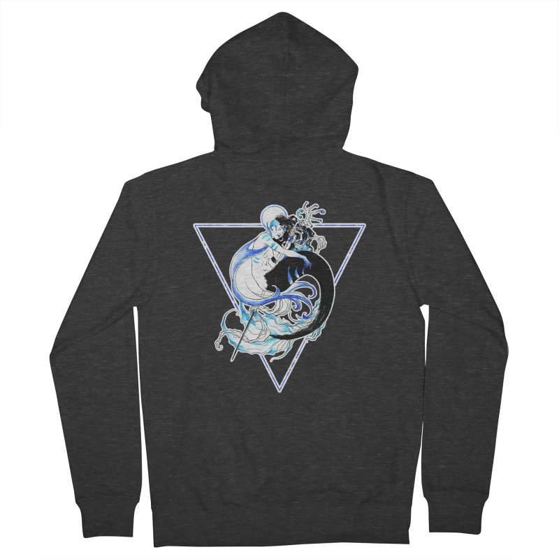 Blue Mermaid Men's Zip-Up Hoody by Mar del Valle's Artist Shop