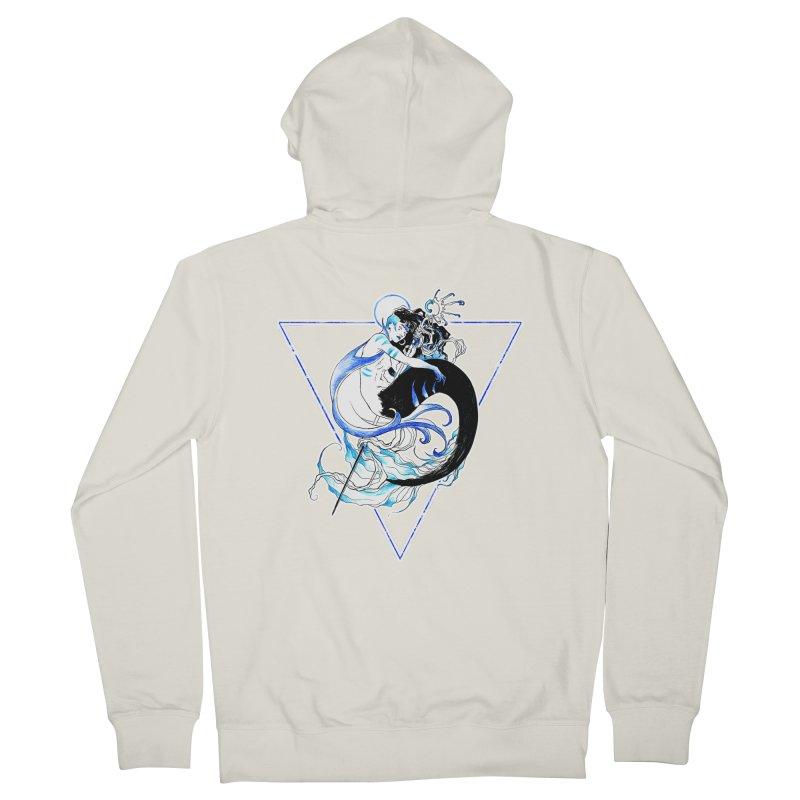 Blue Mermaid Men's Zip-Up Hoody by Mar del Valle's Artist Shop
