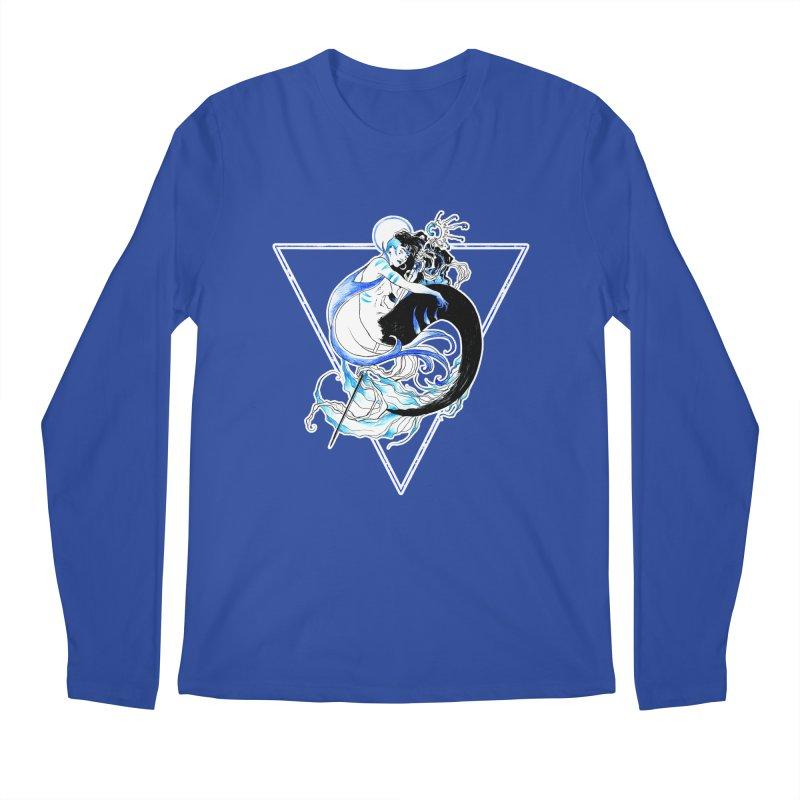 Blue Mermaid Men's Longsleeve T-Shirt by Mar del Valle's Artist Shop