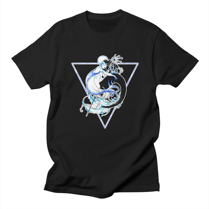 Blue Mermaid Women's Unisex T-Shirt by Mar del Valle's Artist Shop