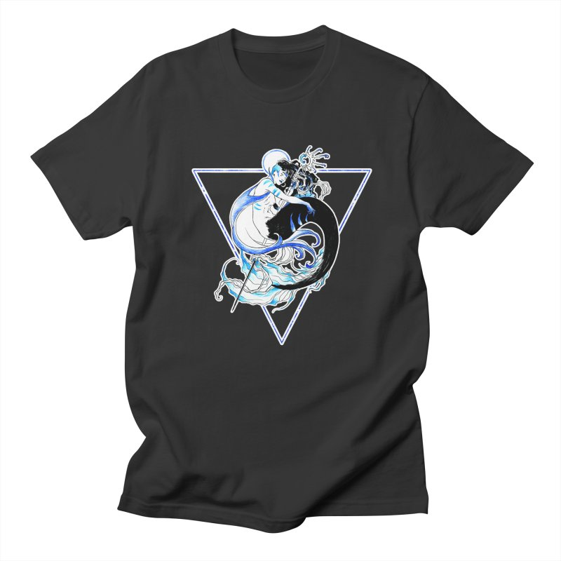 Blue Mermaid Men's T-Shirt by Mar del Valle's Artist Shop