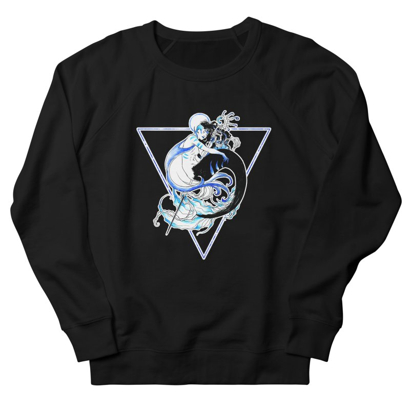 Blue Mermaid Women's French Terry Sweatshirt by Mar del Valle's Artist Shop