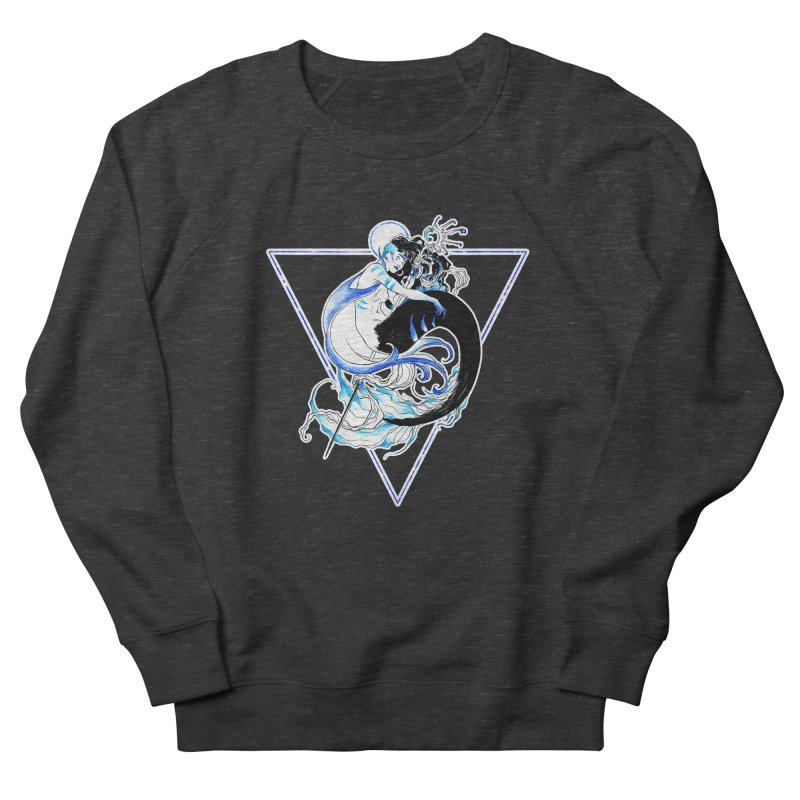 Blue Mermaid Men's Sweatshirt by Mar del Valle's Artist Shop