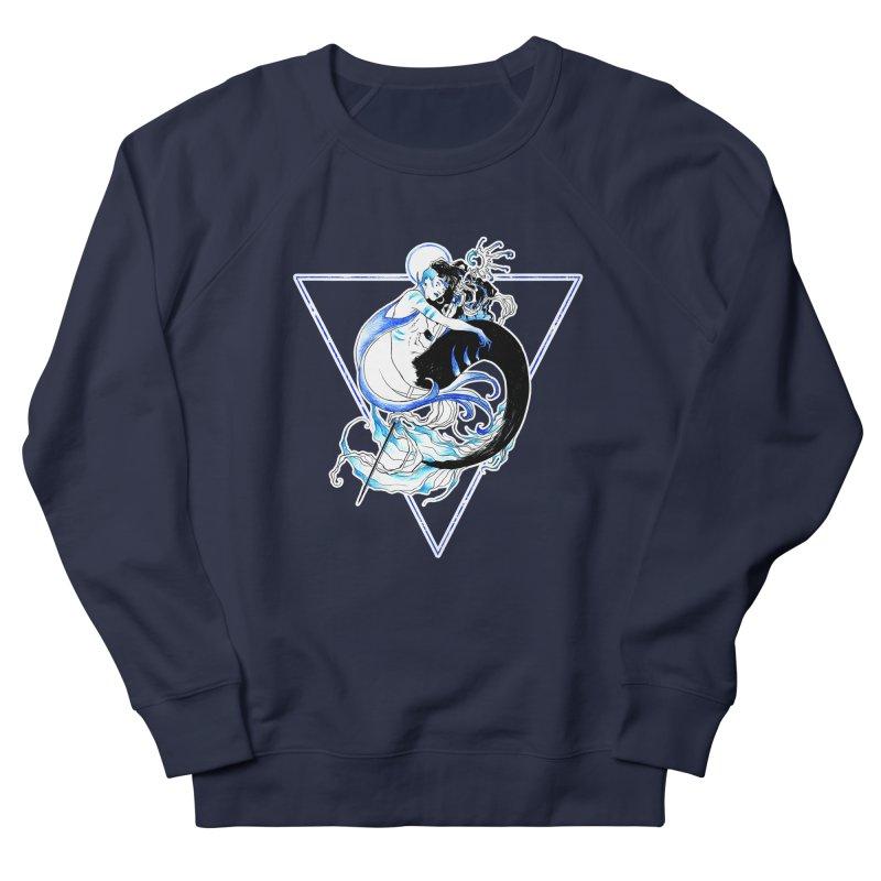 Blue Mermaid Men's Sweatshirt by Mar del Valle's Artist Shop
