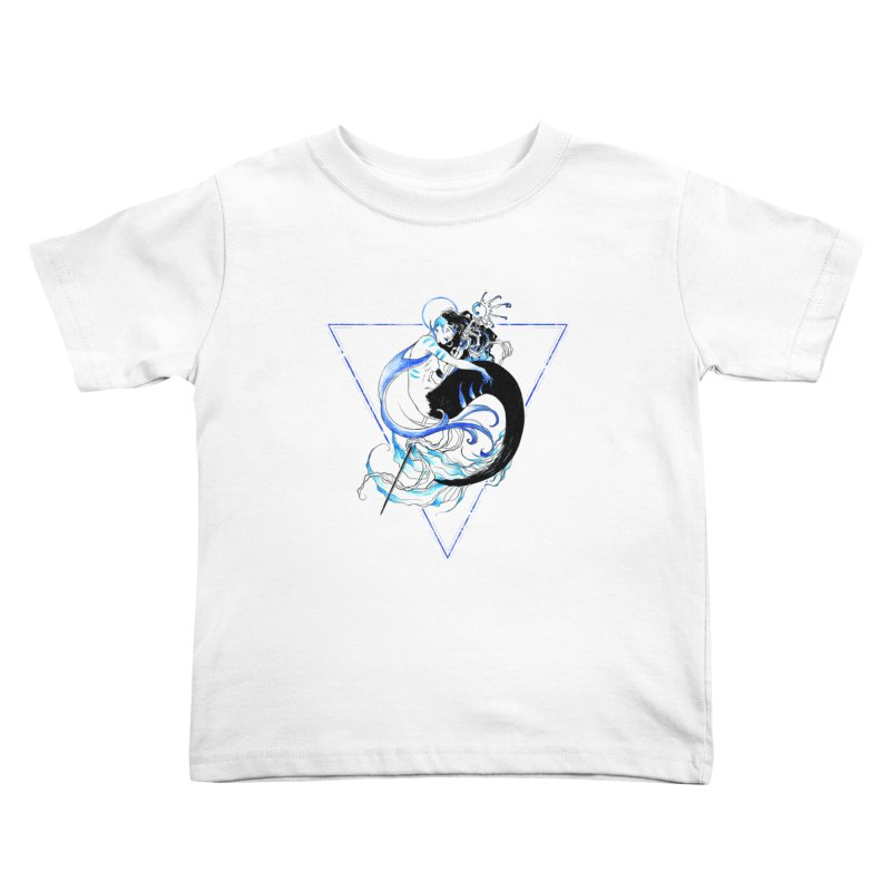 Blue Mermaid Kids Toddler T-Shirt by Mar del Valle's Artist Shop