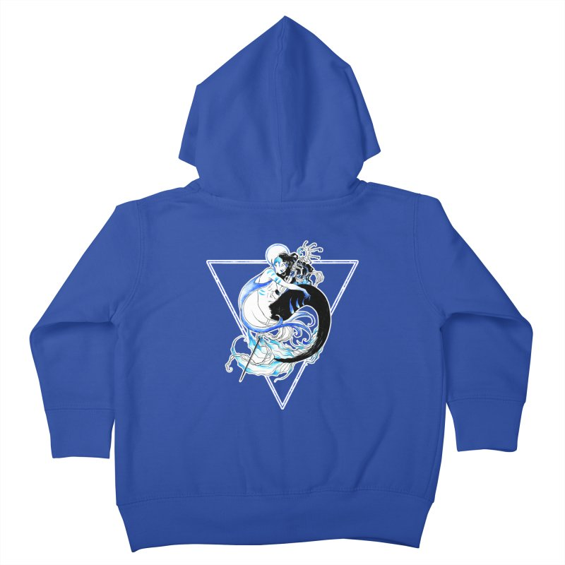 Blue Mermaid Kids Toddler Zip-Up Hoody by Mar del Valle's Artist Shop