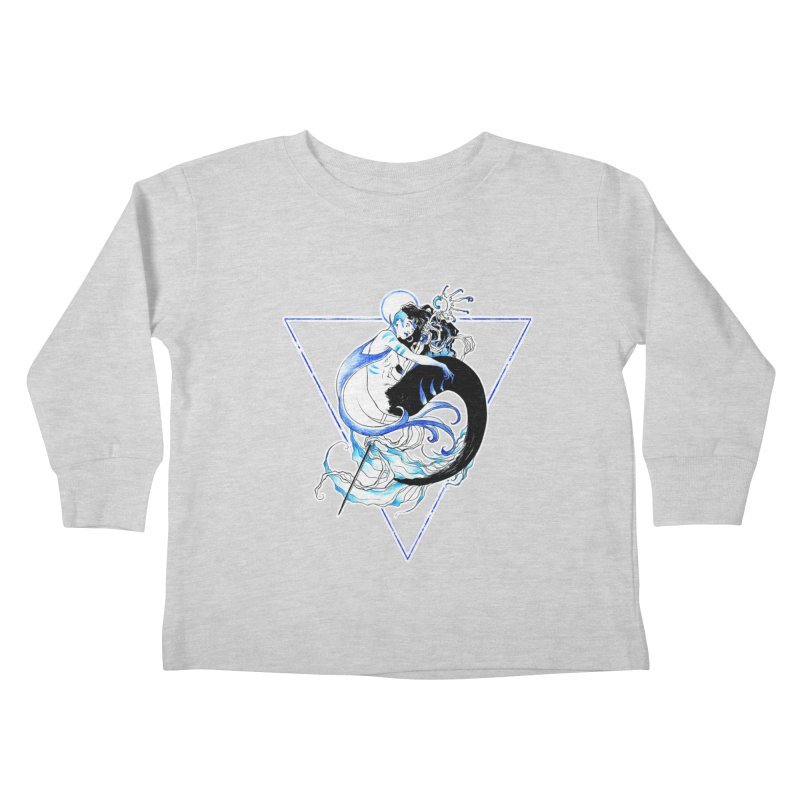 Blue Mermaid Kids Toddler Longsleeve T-Shirt by Mar del Valle's Artist Shop