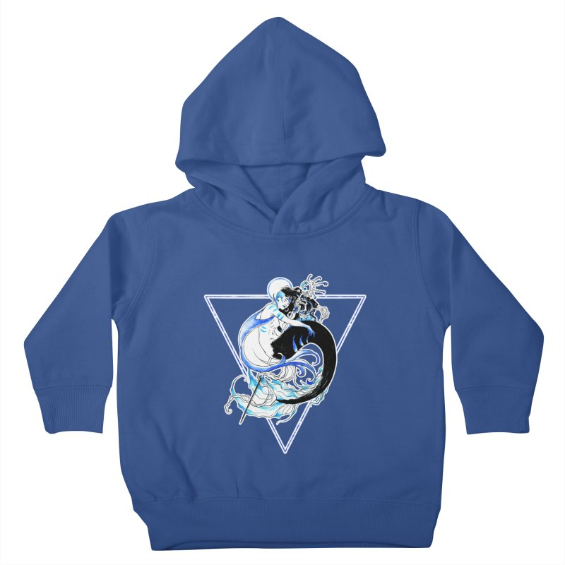Blue Mermaid Kids Toddler Pullover Hoody by Mar del Valle's Artist Shop