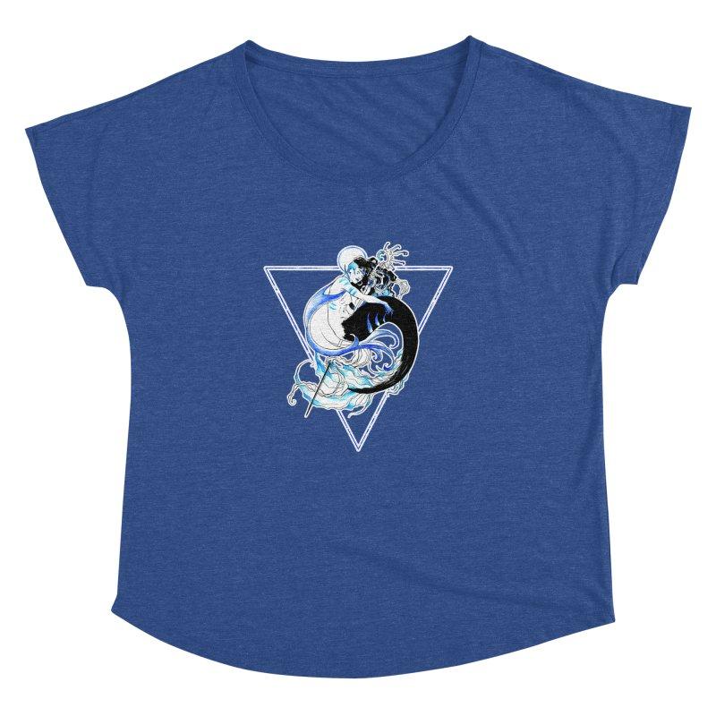 Blue Mermaid Women's Dolman by Mar del Valle's Artist Shop